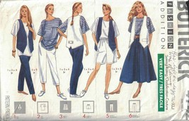 Butterick 4742 Misses Vest Top Skirt Shorts & Pants Nautical Boating Loo... - $5.93