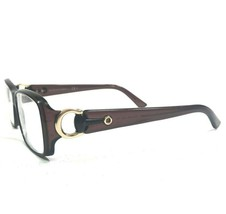 Gucci GG3603 56N Sunglasses Eyeglasses Frames Square Clear Brown Gold Ho... - $140.24