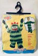 Yo Gabba Gabba Brobee Costume Green Monster Furry Stripe 2T Toddler Hall... - $50.48