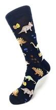 Urban-Peacock Men's Novelty Fun Crew Socks-Dinosaurs-Navy- Multiple Pair Options