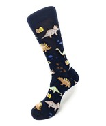 Urban-Peacock Men's Novelty Fun Crew Socks-Dinosaurs-Navy- Multiple Pair... - $9.95+