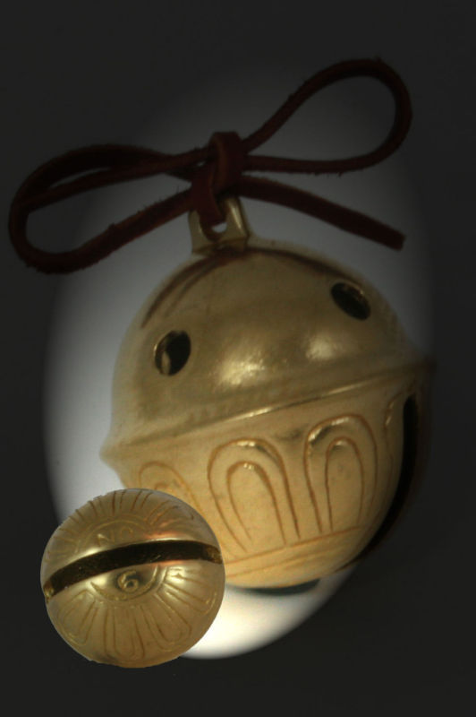 Primary image for SOLID BRASS SLEIGH BELL ~ BEAR BELL ~ SADDLE BELL