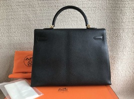 100% Authentic HERMES Black KELLY BAG GHW image 2