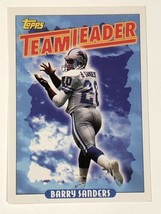 Barry Sanders 1993 Topps # 174 Detroit Lions Team Leader NFL Football Card - $0.99