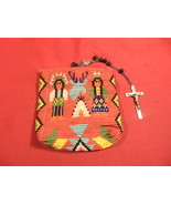 American Indian, Beaded Bag, Storage for Rosary Beads, with Metal Snap E... - $49.99