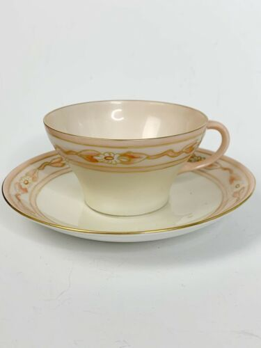 Primary image for Vintage Excellent Peach Floral Rosenthal China Tea Cup & Saucer