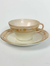 Vintage Excellent Peach Floral Rosenthal China Tea Cup & Saucer - $35.00
