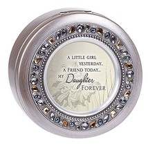 Cottage Garden Friend Today Daughter Forever Brushed Silver Round Jewele... - $42.76