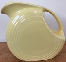 True Vtg Fiestaware Large Disc Yellow Glaze Water Juice Pitcher Art Deco... - $375.00