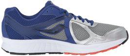 Saucony Herren Silber Blau Grid Cohesion 10 Laufen Läufer Schuh Sneaker Nib image 3