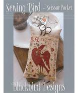 Sewing Bird Scissor Pocket cross stitch chart B... - $8.10