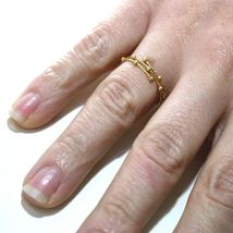 18K YELLOW GOLD MAGICWIRE MULTI WIRES RING, ELASTIC WORKED, SPHERES, SNAKE image 3