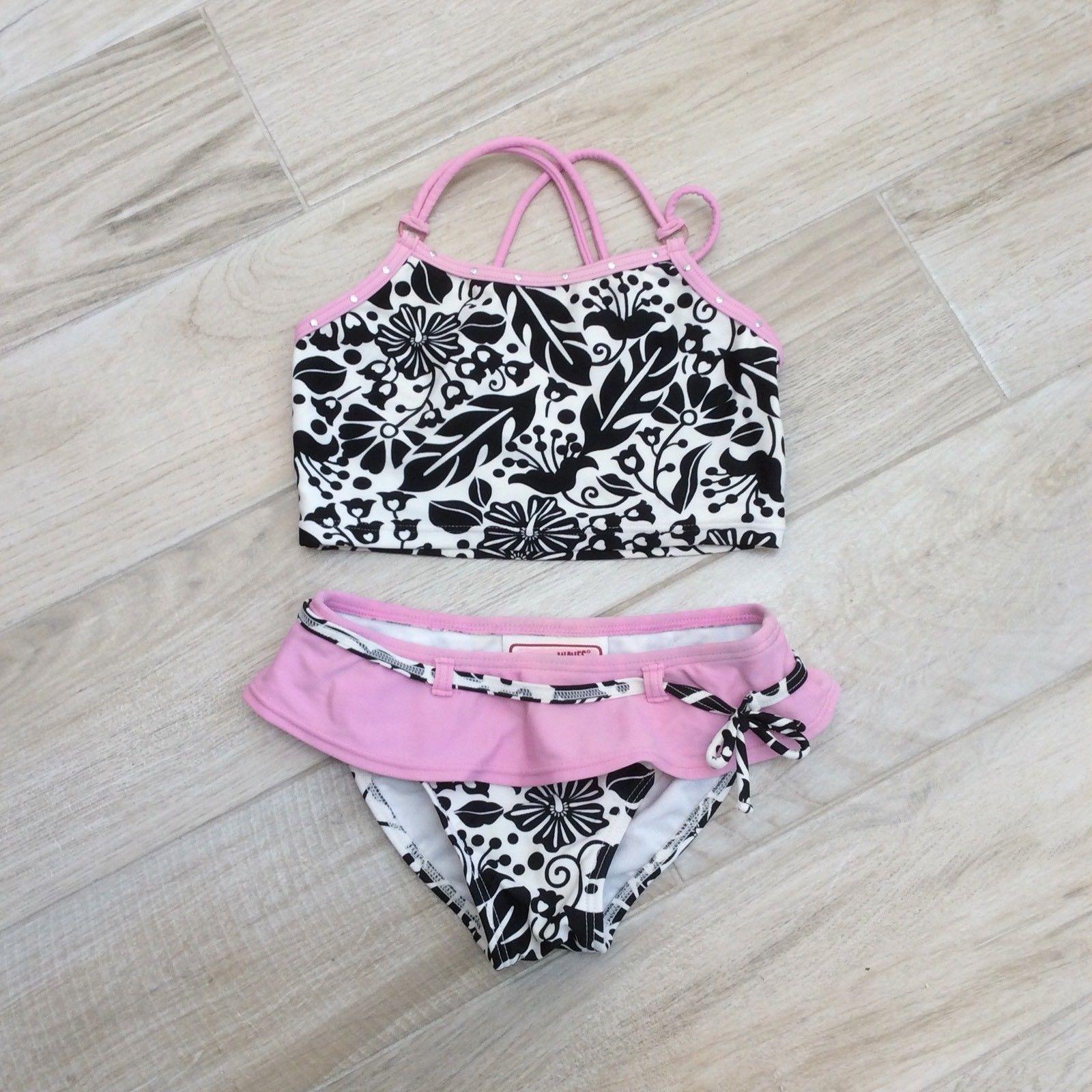 b926793ea3 Vtg Breaking Waves Pink Blk Bikini Kids and 50 similar items