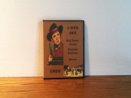 Audie Murphy 1950 3 Disk DVD Set Sierra Kid From Texas Kansas Raiders - $21.00