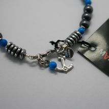 SILVER 925 BRACELET WITH TURQUOISE HEMATITE BLE-2 MADE IN ITALY BY MASCHIA image 4