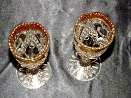 Vintage Medium weight Cut Glass Goblets with Detailed DesignAA19-LD11926 image 3