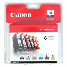 Canon BCI 6 Pack Set Color Ink - printer S9000 S830D S820D i9100 i960 i9... - $51.94