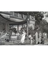 SUMMER PARTY in Villa of Roman Consul Lucullus Dancers - 1888 Fine Antiq... - $21.60