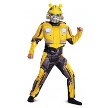 Disguise Transformer Bumblebee Classic Muscle Child Boys Halloween Costu... - $32.99
