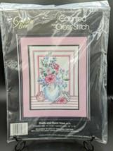 NOS Counted Cross Stitch Kit #60278 Shells & Floral Vase VTG Golden Bee ... - $24.95