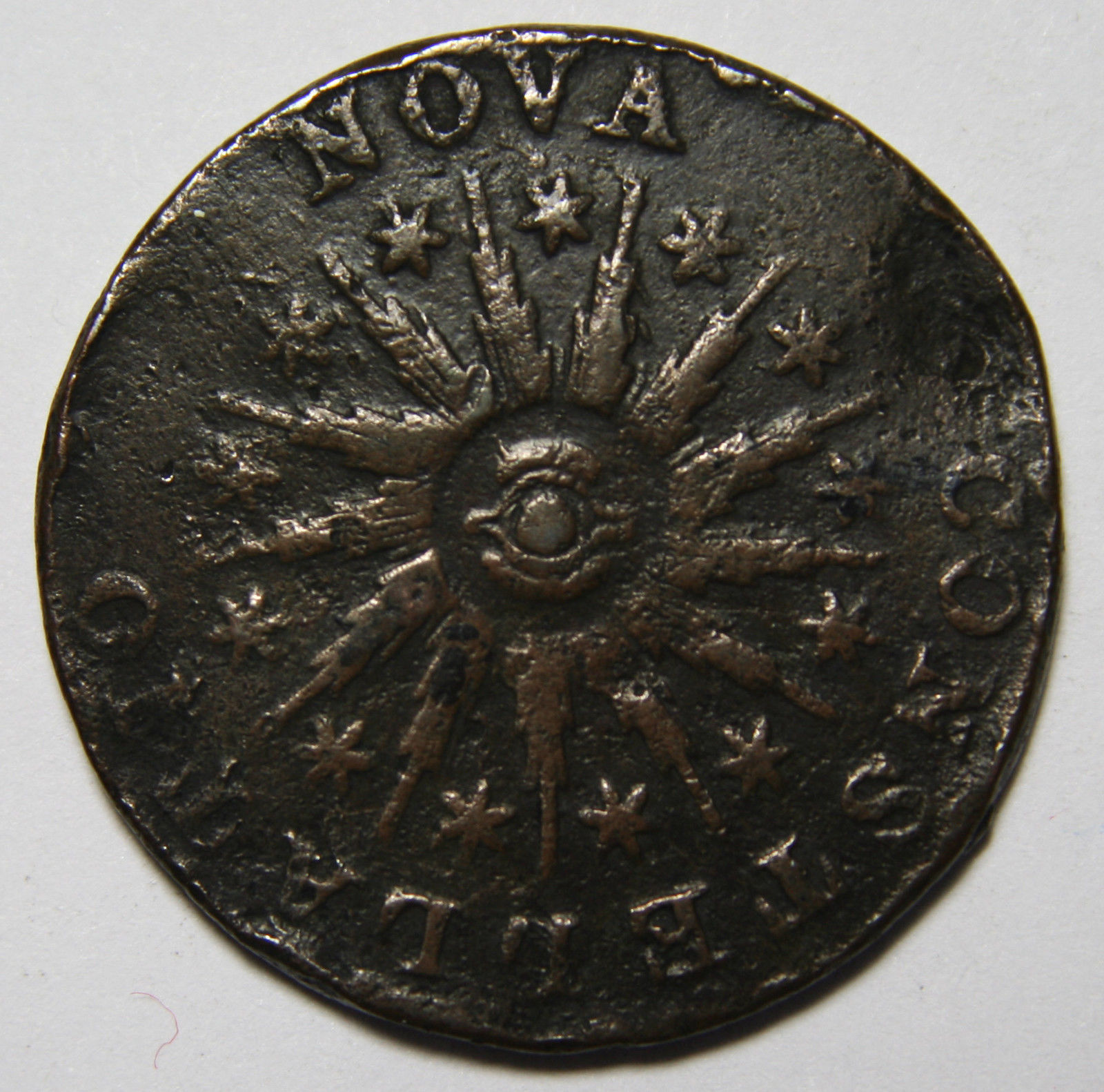 1785 Constellatio Copper Colonial Nova Pointed Ray Coin Lot # MZ 3930