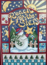 Janlynn Reach for the Stars Snowman Christmas Counted Cross Stitch Kit #003-0256 - $19.30