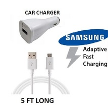 Samsung Galaxy S6 S7 S8 S9 Note 4 5 6 8 PLUS Adaptive Fast Car Charger+ ... - $14.95