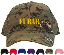 FUBAR Embroidered Baseball Cap - Available in 7 Colors - Hat - $25.95