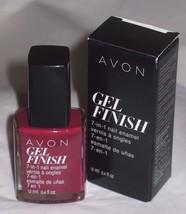 Avon Gel Finish 7in1 Nail Enamel (Very Berry) New/Boxed/12 ml/0.4 fl oz MSRP $10 - $4.30