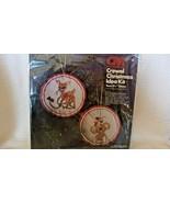 Crewel Christmas Koala Bear & Deer Ornaments #7944 Columbia-Minerva BNOS - $22.28