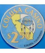 $2.50 Casino Chip. Colusa Casino, Colusa, CA. W07. - $4.99