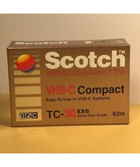 SCOTCH VHS-C COMPACT VIDEOCASSETTE CAMCORDER TAPE SEALED NEW TC-30 VHSC ... - $16.78