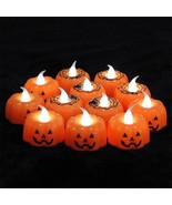 Classic Pumpkin Design Small Led Durable Indoor Candle Lamp Lantern Hall... - €4,38 EUR