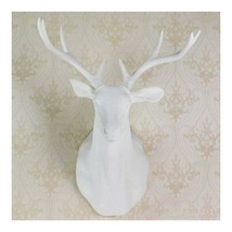 Large Size Plastic Deer Head Wall Hanging Decoration white - $137.01
