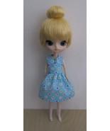 Blythe Dal Byul Handmade Dotted Hearts Doll Dress OOAK - $18.97