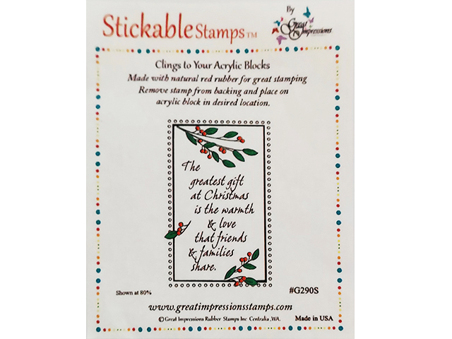 Great Impressions Stamps Christmas Sentiment Stamp