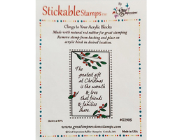 Great Impressions Stamps Christmas Sentiment Stamp image 1