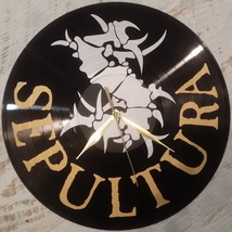 DIY SEPULTURA Decorative Designed Modern Vinyl Record Wall Clock Silent ... - $23.74