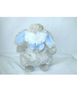 """PIER 1 IMPORTS GRAY BUNNY BLUE GINGHAM PLUSH TOY 10"""" - $11.88"""