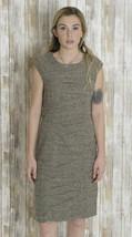 8 Sangria Grey Boucle Sleeveless Gathered Crease Panel Sheath Dress AWZDG021 - $39.59
