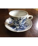 Blue Danube Japan Porcelain Teacup & Saucer, Square Backstamp - $6.64