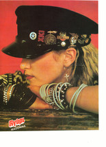 Madonna teen magazine pinup clipping black hat arms crossed Vintage 1980's Bop