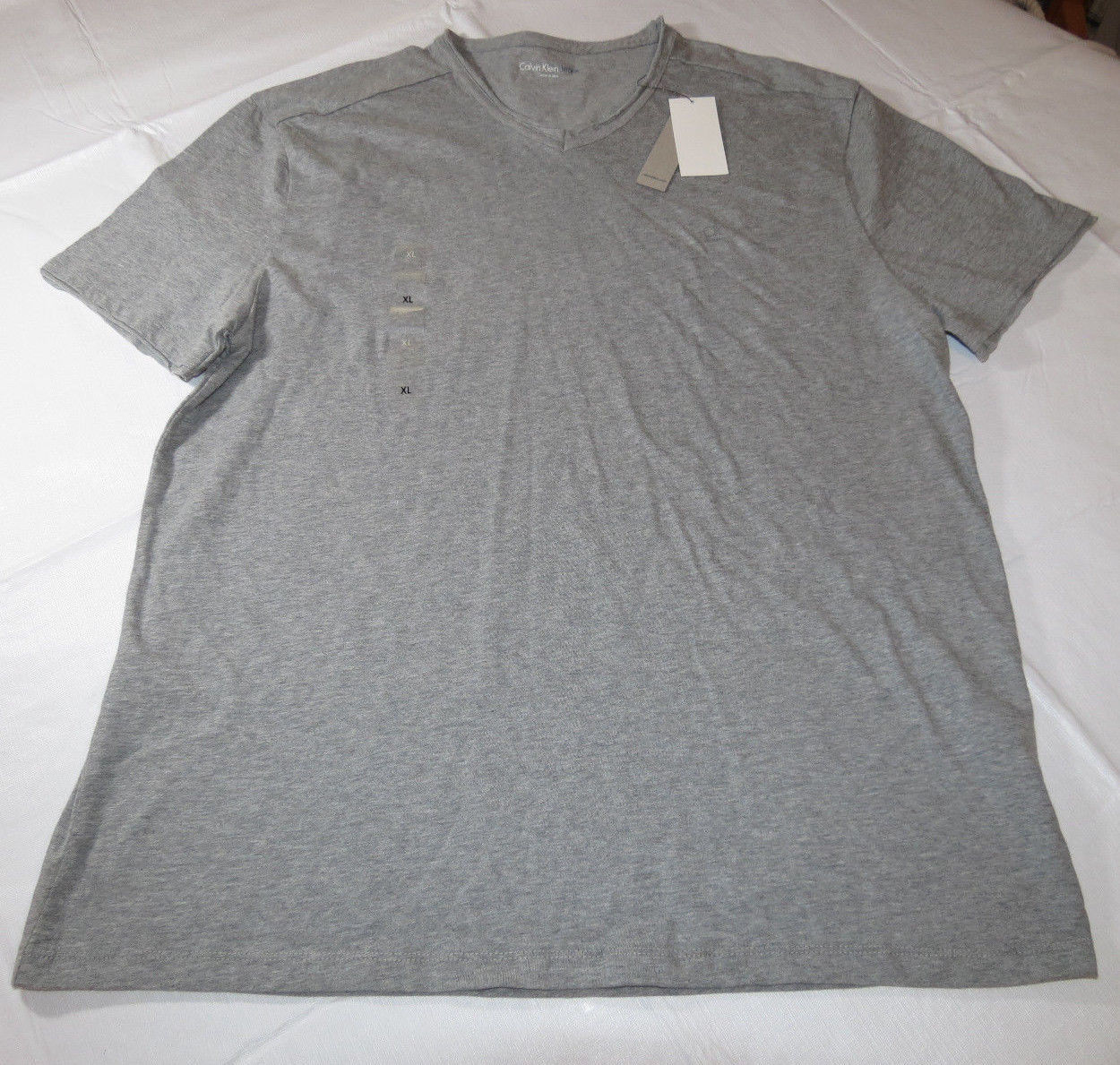 Primary image for Calvin Klein Jeans Mens short sleeve t shirt XL xlg 41AK216 Charcoal Hthr 034