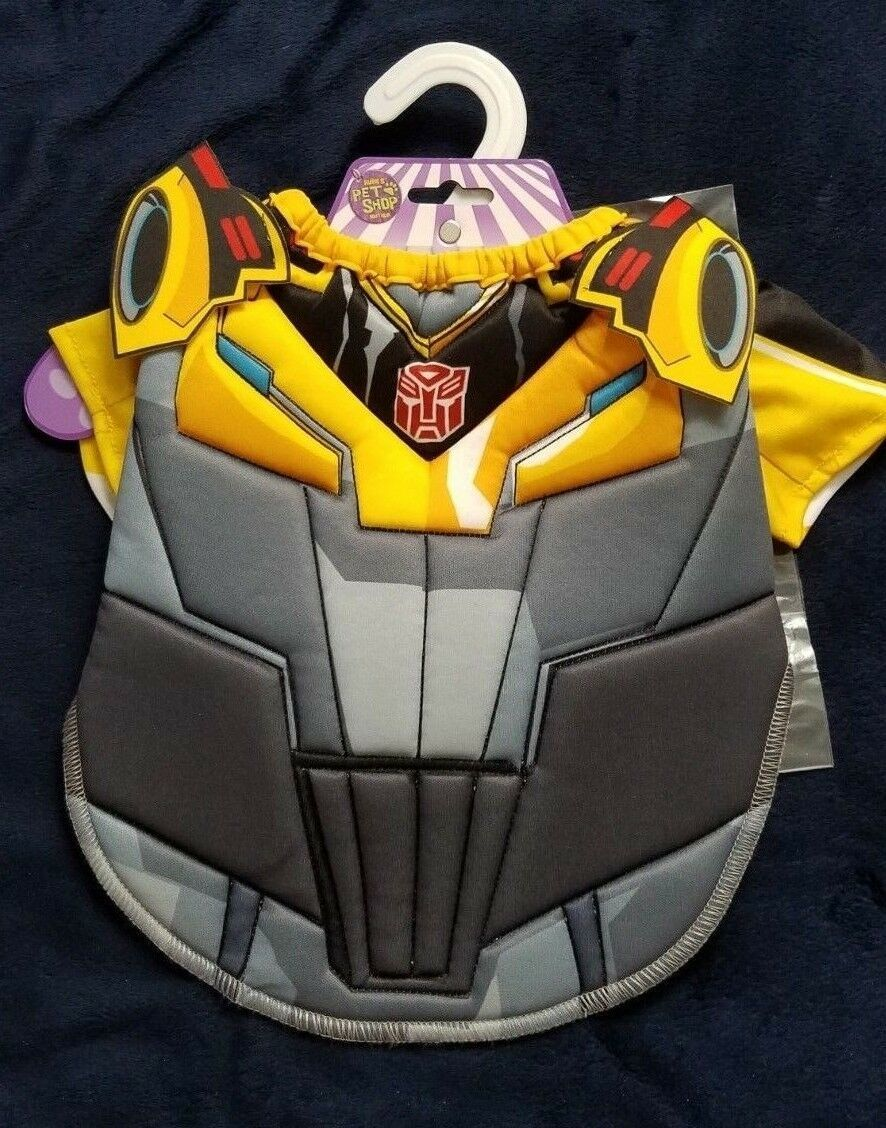 Bumblebee Transformers Pet Dog Costume Small Or Large Rubie's Brand Black Yellow
