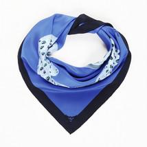 Cartier Blue Silk Scarf - ₹10,383.46 INR