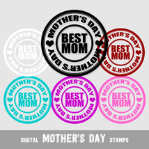 Digital Stamps Mother's Day, Best Mom - Digital Clip Arts, CU4CU - $5.00