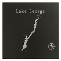 Lake George Map Wall Art Office Decor Gift Engraved New York - $38.69+