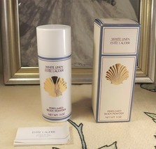Estee Lauder White Linen Perfumed Body Powder Shaker in Box 3 oz Full Vi... - $77.22