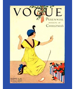 Vogue Magazine Cover, Lady Receives ring &  Roses, December Issue, Vogue... - $15.99