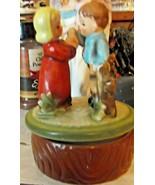 Vintage Japan Boy and Girl Lara's Theme Music Box - $14.90